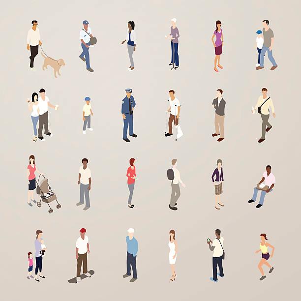 everyday people - flat icons illustration - mathisworks people icons stock illustrations, clip art, cartoons, & icons