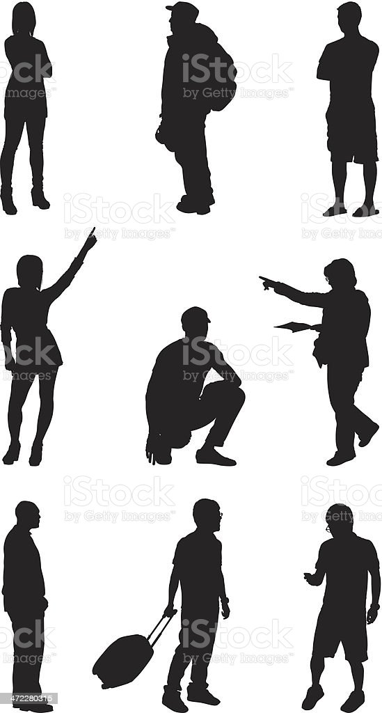Everyday people silhouettes royalty-free everyday people silhouettes stock vector art & more images of adult