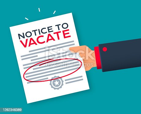 istock Eviction Notice to Vacate Notice Warning 1262346389