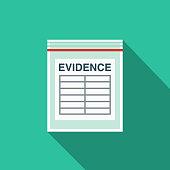 Evidence Flat Design Crime & Punishment Icon