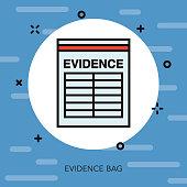 Evidence Thin Line Crime & Punishment Icon