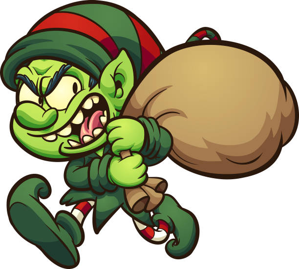 Evil Christmas Characters.Best Evil Christmas Characters Illustrations Royalty Free