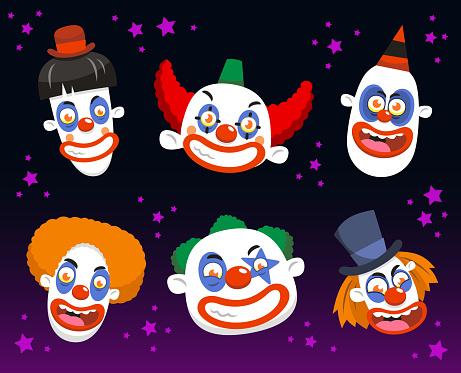 Evil clown set