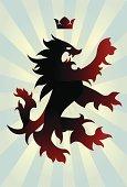 Evil coat of arms lion