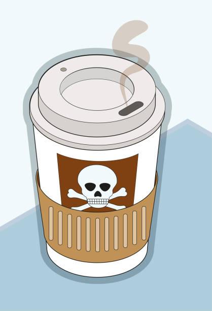 bildbanksillustrationer, clip art samt tecknat material och ikoner med onda kaffe - coffe with death