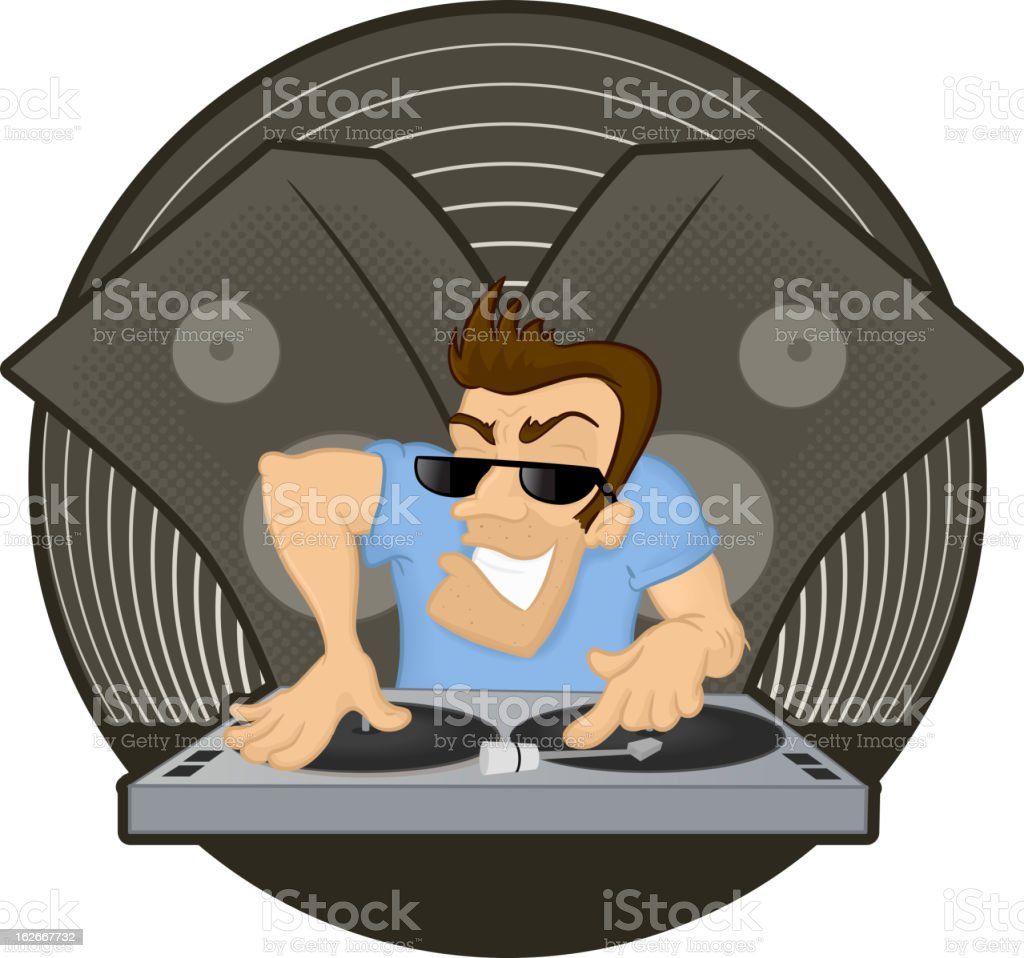 Evil DJ royalty-free stock vector art