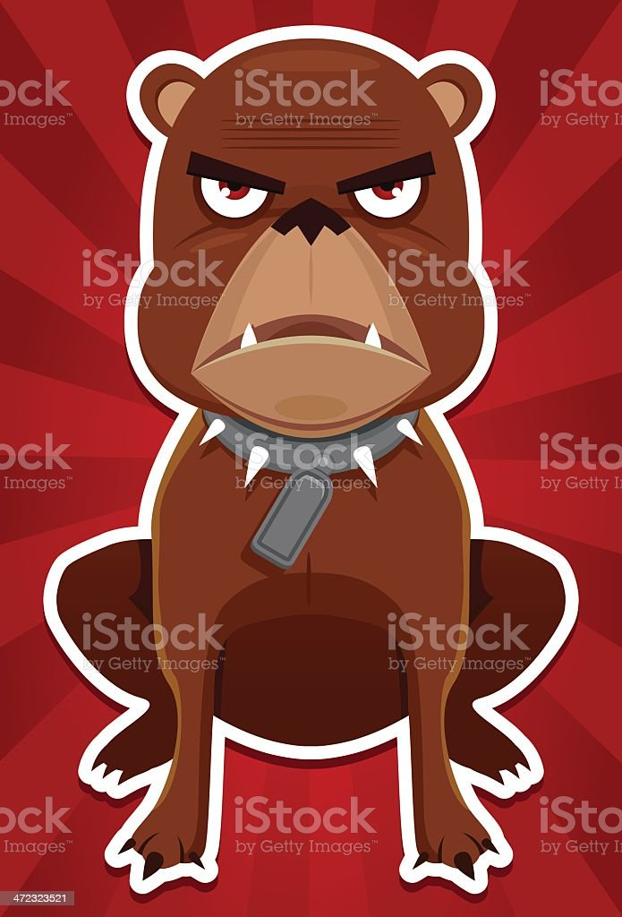 Evil dog vector art illustration