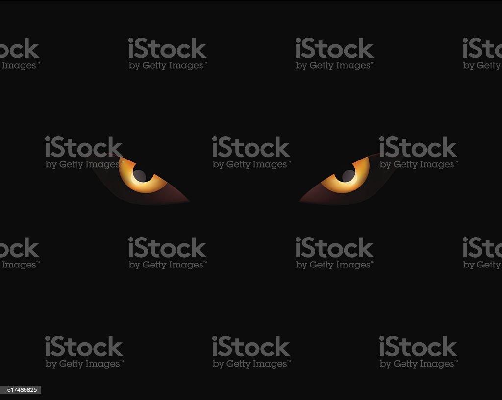 evil eyes on black vector background