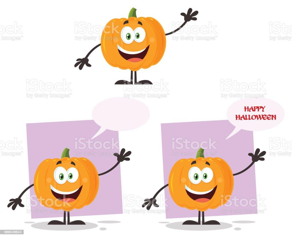 Halloween Pumpkin Cartoon Images.Evil Halloween Pumpkin Cartoon Emoji Character Flat Design Set 2 Collection Stock Illustration Download Image Now