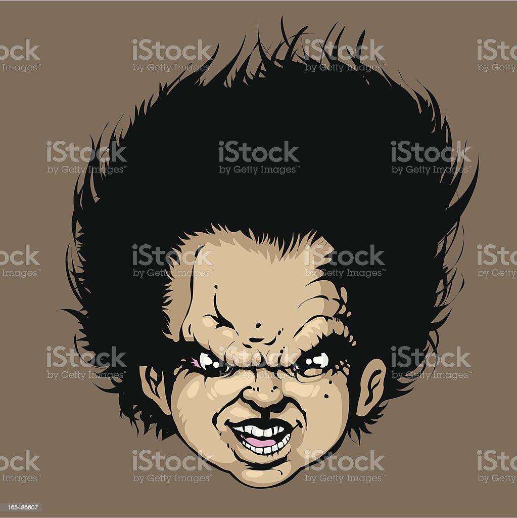 Evil head royalty-free stock vector art