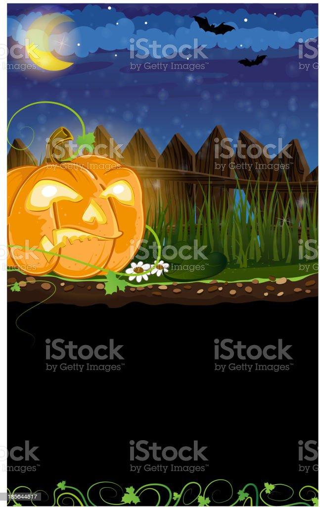 Evil Jack o Lantern royalty-free stock vector art