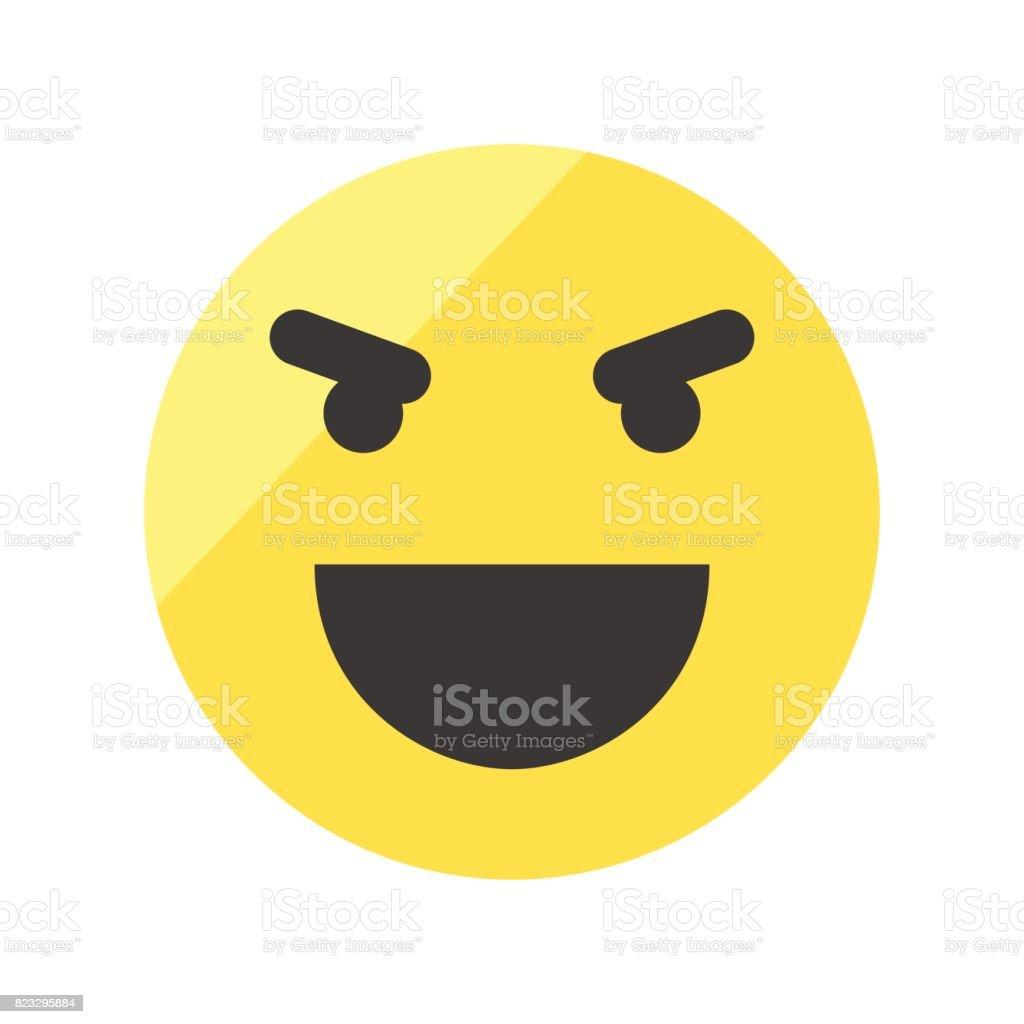 Evil Laugh Smiley Icon Emoji Smiley Stock Illustration