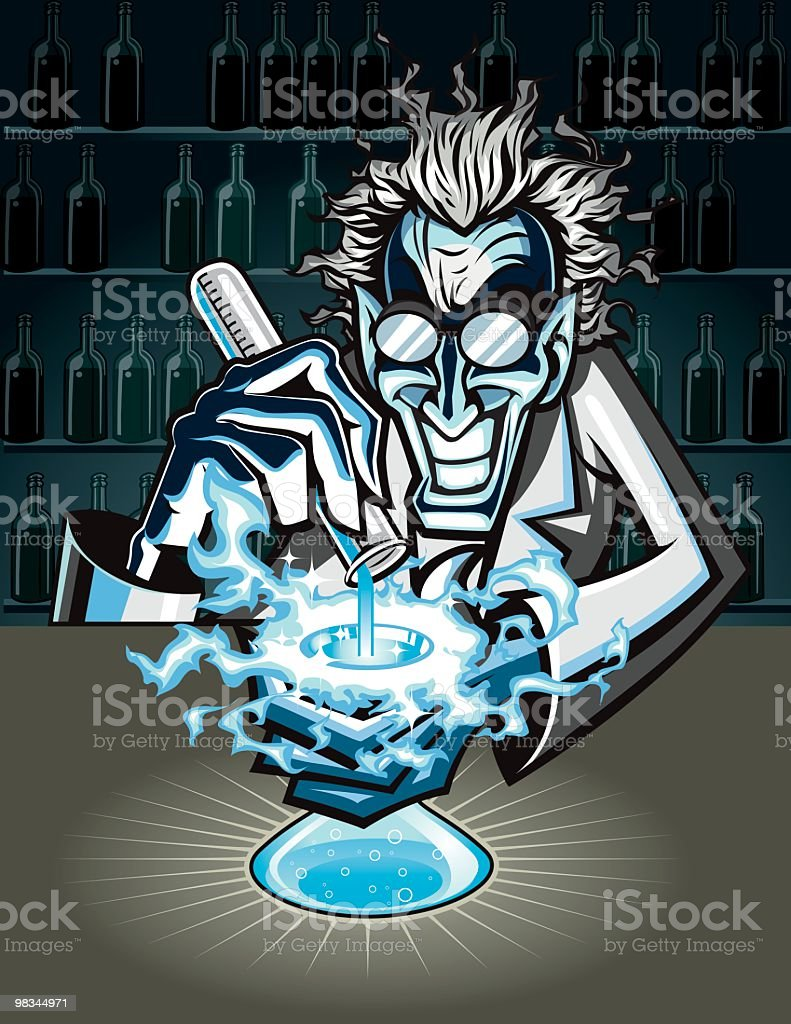 Evil mad scientist creating a formula royalty-free evil mad scientist creating a formula stock vector art & more images of adult