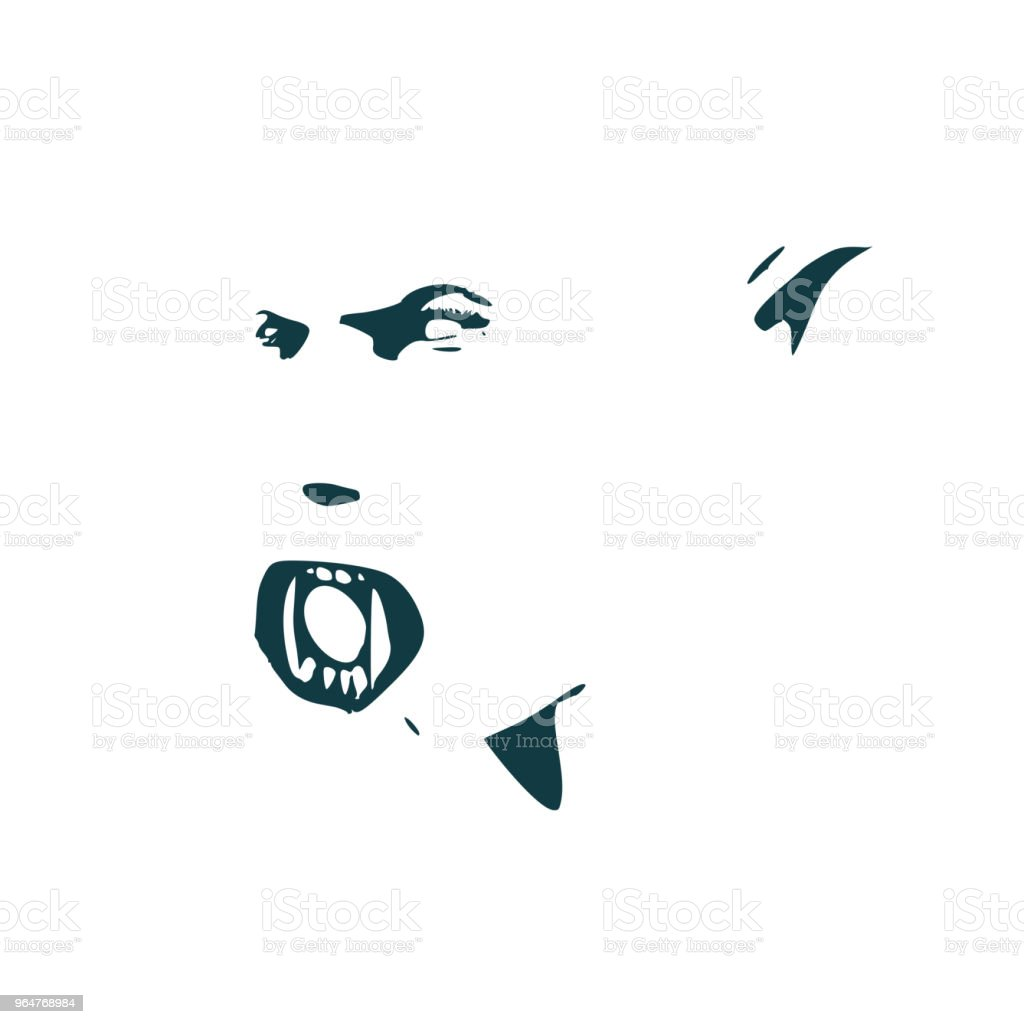 Evil orc face royalty-free evil orc face stock vector art & more images of anger