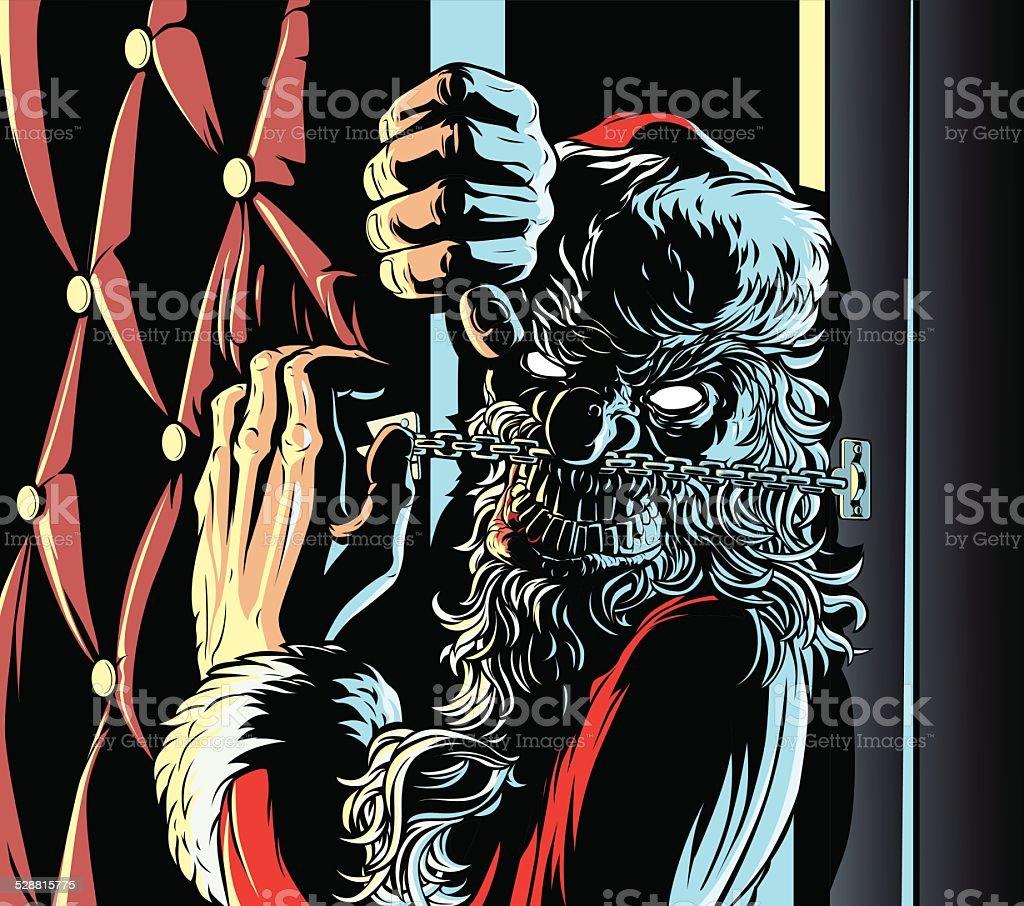 Babbo Natale Assassino.Mali Santa E Portiera Immagini Vettoriali Stock E Altre Immagini