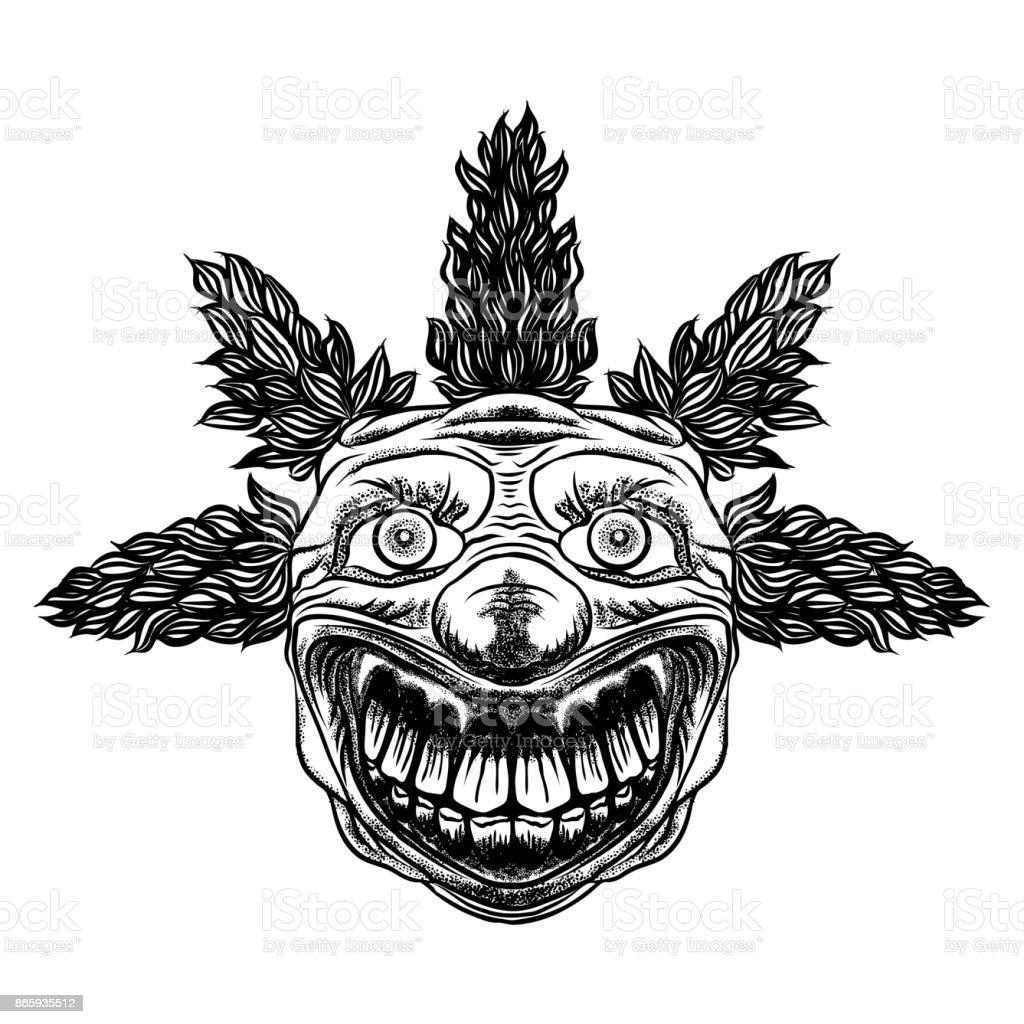 Scary cartoon monster teeth