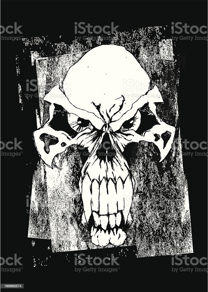 Evil Skull Grinning and Staring with Creepy Eyes for Halloween royalty-free evil skull grinning and staring with creepy eyes for halloween stock vector art & more images of animal body part