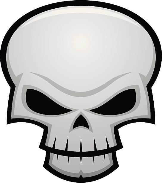 Evil Skull vector art illustration