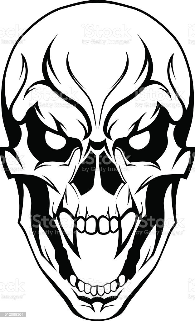 evil skull stock vector art more images of adult 512699304 istock rh istockphoto com skull artwork vector skull clipart vector