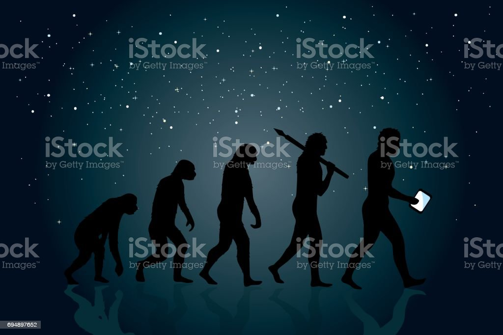 Evolution of Man vector art illustration