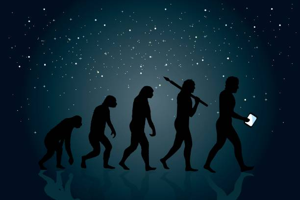 Evolución de Man - ilustración de arte vectorial