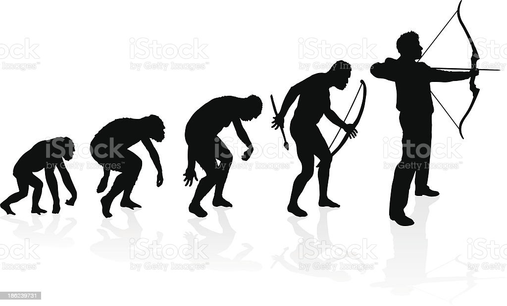Evolution of the Archer - Royalty-free Accuracy stock vector