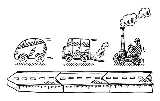 Evolution Of The Car Drawing