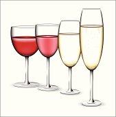 vector wine glasses