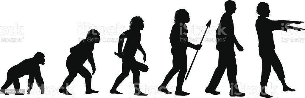Evolution of the Zombie vector art illustration