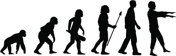 illustrazioni stock, clip art, cartoni animati e icone di tendenza di evoluzione degli zombi - man evolution