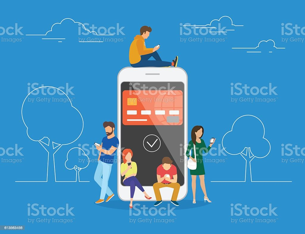 E-wallet concept illustration - Illustration vectorielle