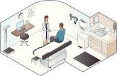 Examination Room Illustration