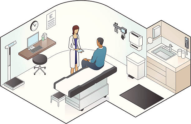 Examination Room Illustration vector art illustration