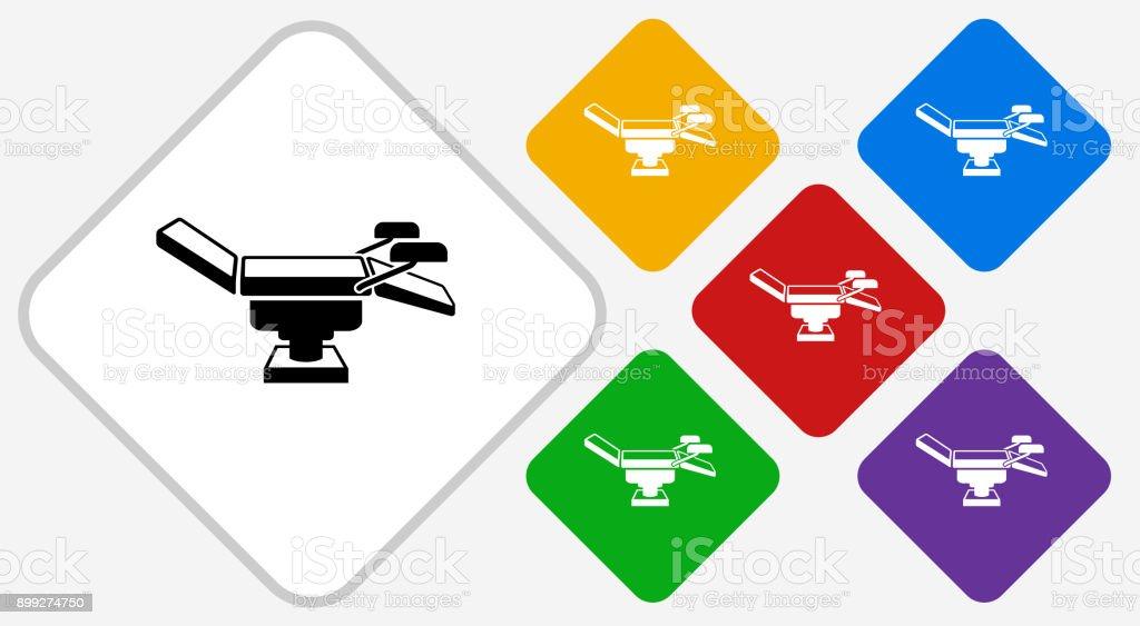 Examination Table Color Diamond Vector Icon vector art illustration