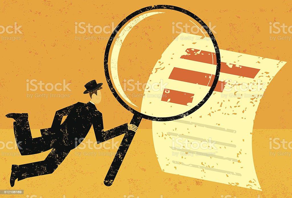 Analisar dados financeiros - ilustração de arte em vetor