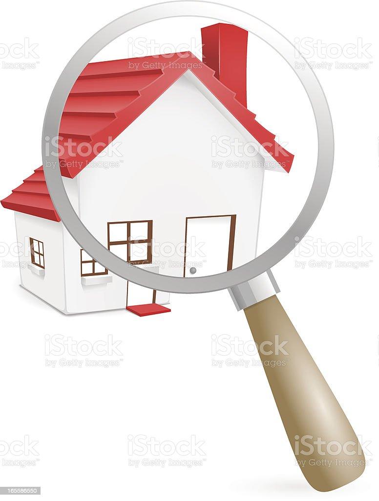 Examining House vector art illustration