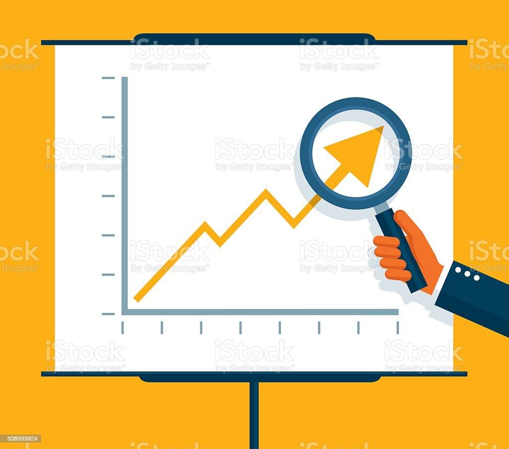 Examining Profits vector art illustration