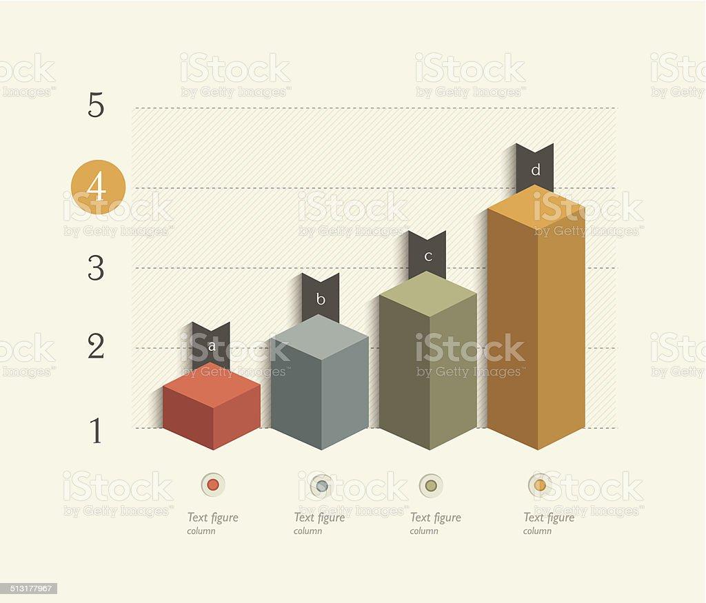 Beispiel business 3D-design, Diagramm. Infografiken Tabelle. – Vektorgrafik