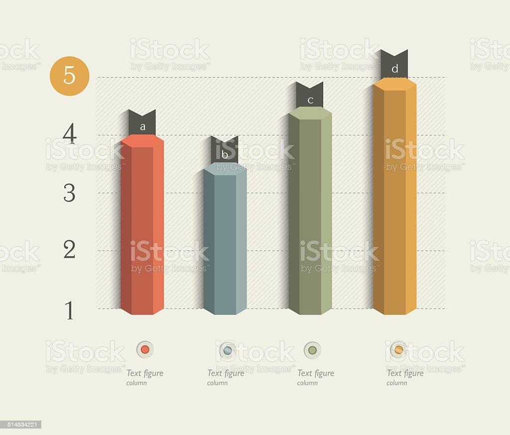 Beispiel business 3D-design, Diagramm. – Vektorgrafik