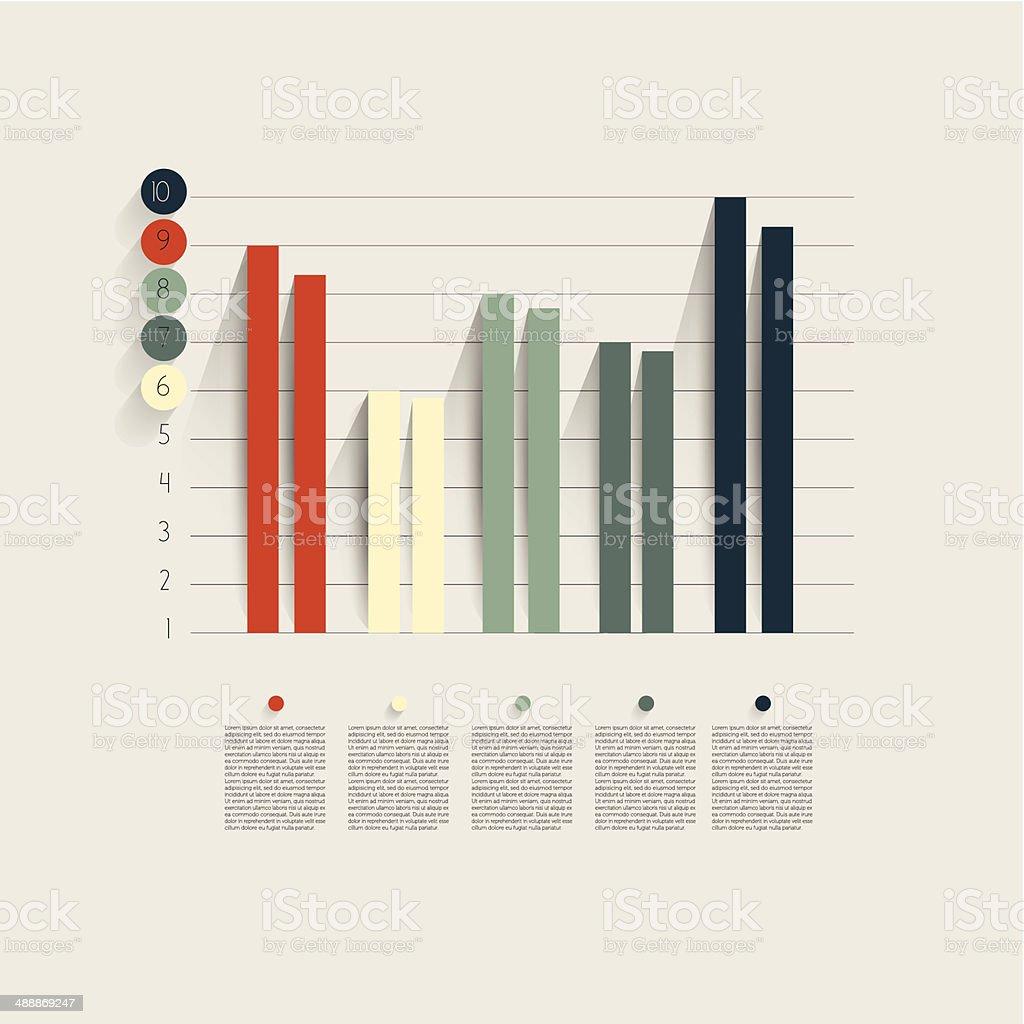 Beispiel von business-flachen design-Diagramm.   Infografiken Tabelle. – Vektorgrafik