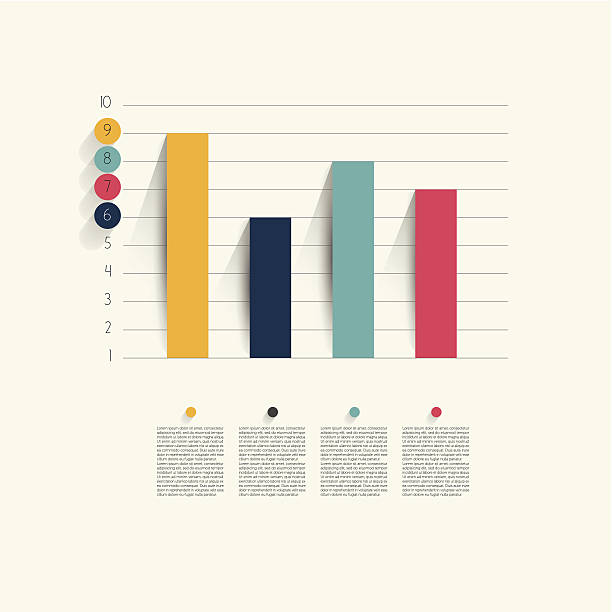 Example of business flat design graph. Infographics chart. Example of business flat design graph. Infographics chart. bar graph stock illustrations