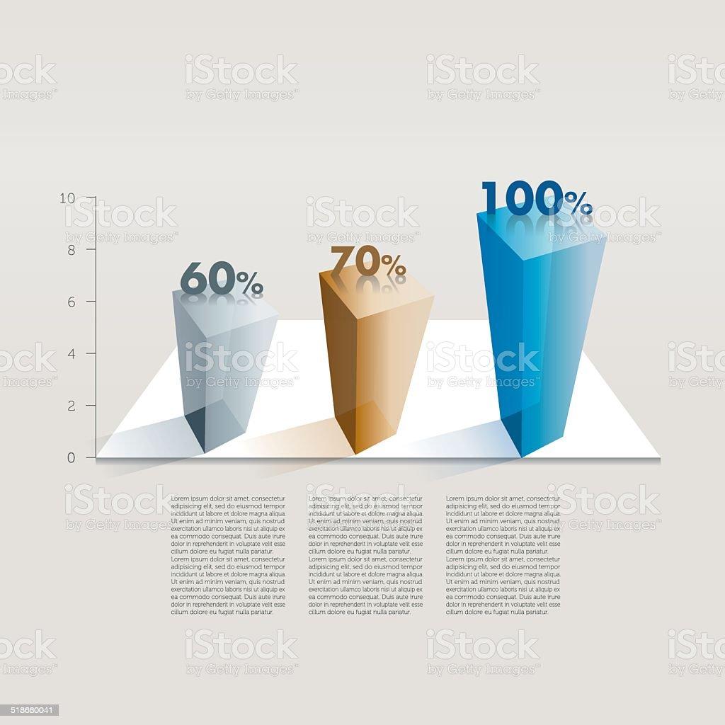 Beispiel business-Diagramm. Infografiken Tabelle. – Vektorgrafik