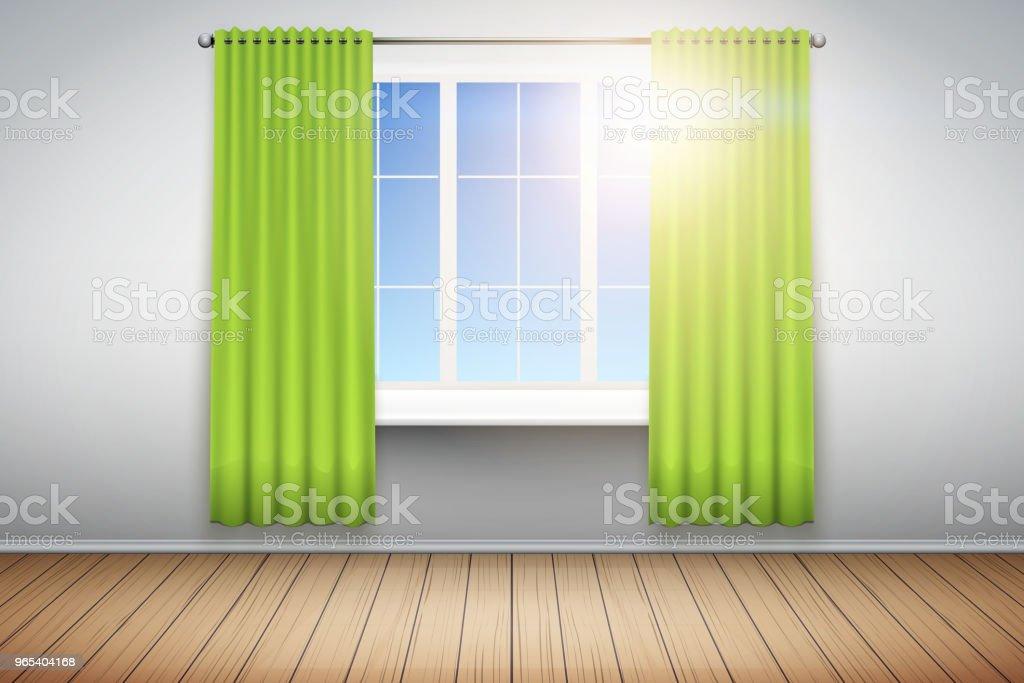 Exemple d'une pièce vide avec fenêtre. - clipart vectoriel de Appartement libre de droits
