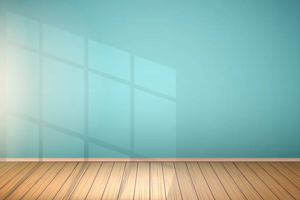 example of empty room with window. - living room stock illustrations, clip art, cartoons, & icons