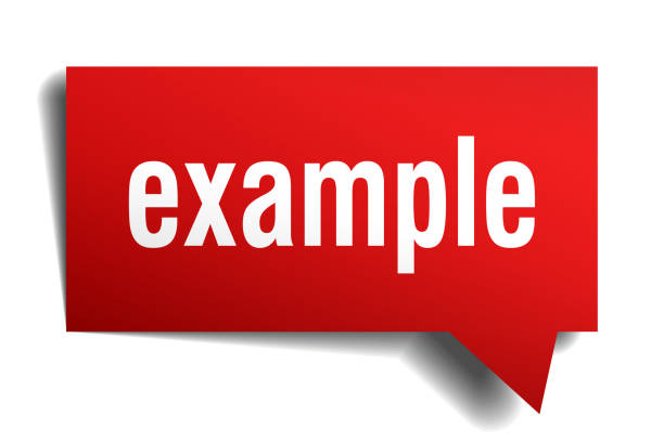 example red 3d speech bubble - autorytet stock illustrations