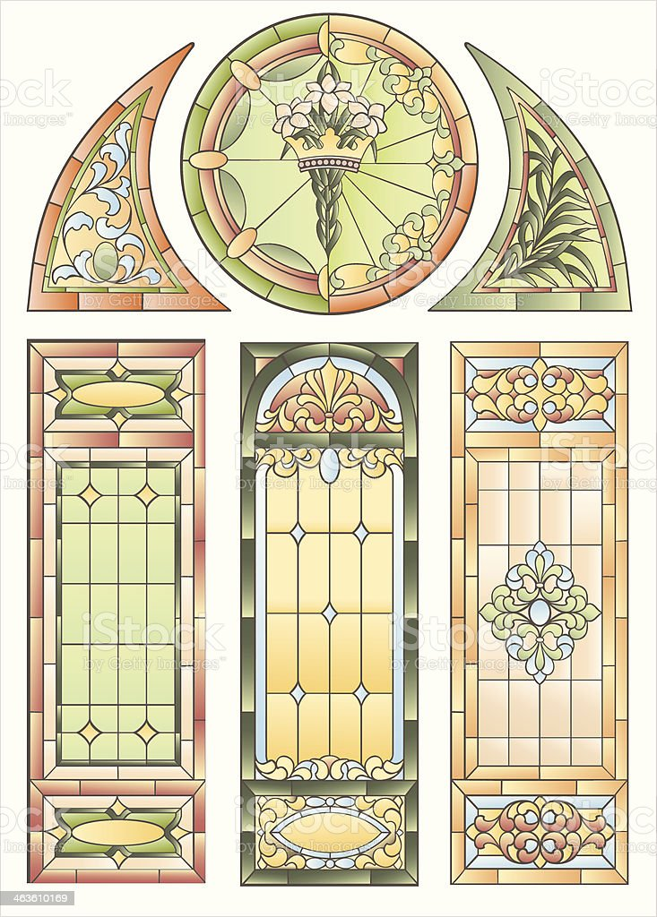 Examples of stained glass windows for decoration royalty-free examples of stained glass windows for decoration stock vector art & more images of abstract