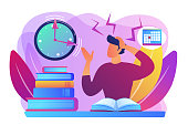 Exams and tests concept vector illustration