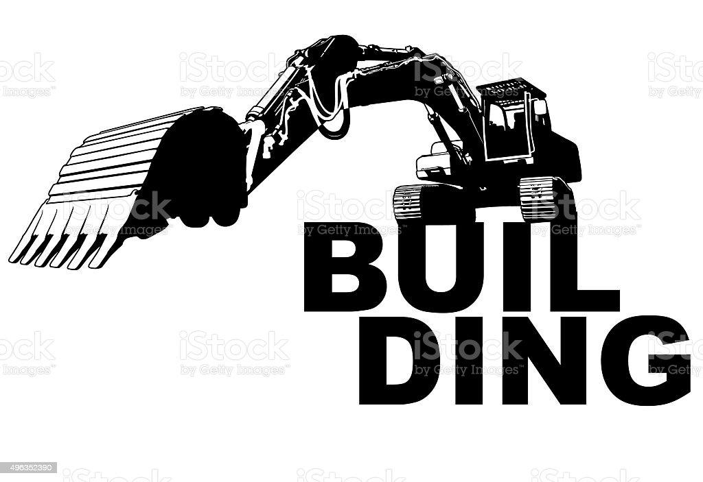 Excavator Gebäude – Vektorgrafik