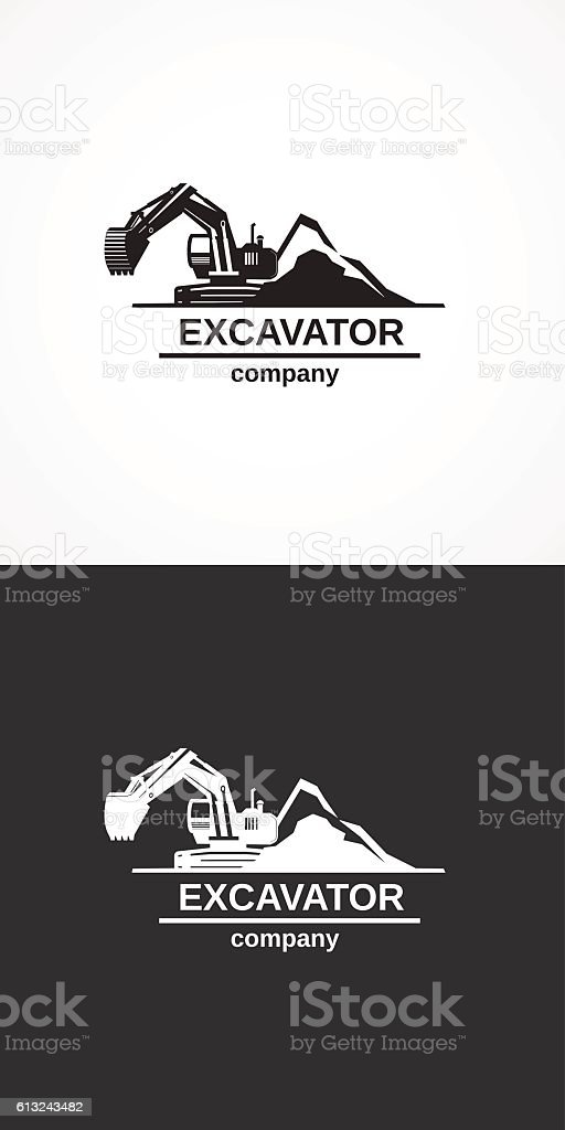 Excavator company. – Vektorgrafik