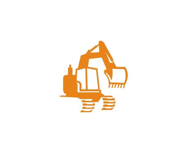 excavator-symbol - bagger stock-grafiken, -clipart, -cartoons und -symbole